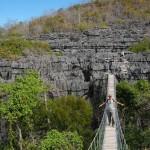 Ponte sospeso nel parco dell'Ankarana